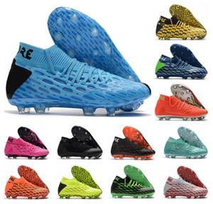 2020 Mens Zukunft 5.1 Netfit FG Flash-Eclipse-Spark-Aufstieg-Pack Pink Panther Hohe Ankle Fußball-Fußball-Schuh-Stiefel Klampen Größe 39-45