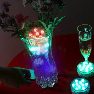 10pcs lot Submersible led light Remote controlled Battery operated RGB multi-colors light for wedding party decoration