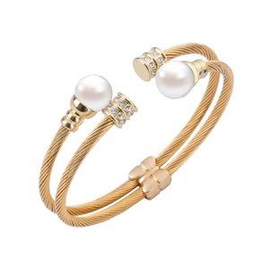 Европейские и американские модные дамы проволочный браслет из нержавеющей стали multi-circle fashion bracelet взрывные модели