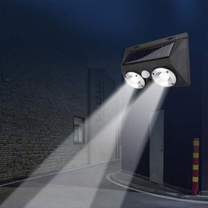 LED Solar Luz Outdoor Wall Light Duplo COB, Sensor de Movimento Waterproof Sensor instância adequada para jardins, pátios Preto