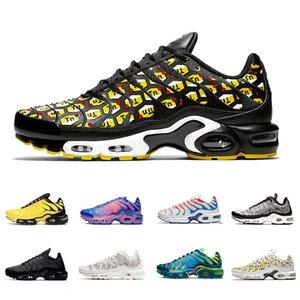 Nike air max Plus TN All Over Imprimer TN, plus soi hommes chaussures de course Fade formateurs Phantom Og triple hommes blancs rock Cailloux noirs baskets de sport en plein air