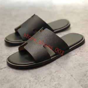 HERMES mezze Nuovo di uomini di pantofola sandali del cuoio genuino stile europeo pelle bovina nuove scarpe da uomo mocassini grandi pantofole dimensioni Size 36-45 Hococal