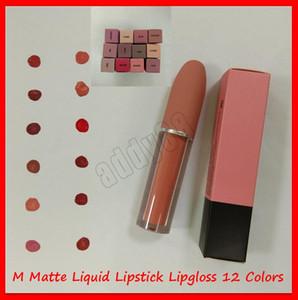 2019 Neueste Lippe Makeup M Lip Gloss Selena Weihnachten Limited Edition Bullet Flüssig Lippenstift Glanz Lipgloss 12 Farben