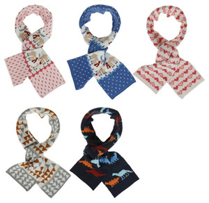 Fashion Children Knitting Scarves Christmas Elk Childrens Knitted Shawl Wool Warm Windproof Scarf Scarves & Wraps Christmas Gift