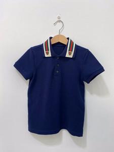 Collar Polo Verão Cotton Crianças Meninos Sprots camisas de algodão lapela Odile Tecido do T da forma Roupa Crianças