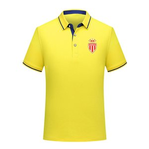 в монако FC Мужчины поло Summer Mens Business Casual Tops Мужские спортивные Ран с коротким рукавом рубашки поло тренировочного одежда Поло Мужские поло