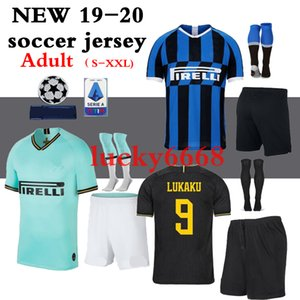 2018-20 inters Soccer jersey adult kit with socks LUKAKU ALEXIS CANDREVA ICARDI PERISIC 2019 2020 Maillot de foot football shirts kit