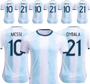 2019 Argentina de Futebol Argentina Início da camisa do futebol 2018 # 10 MESSI # 9 AGUERO # 21DYBALA # 11 DI MARIA afastado tamanho uniforme de futebol S-3XL