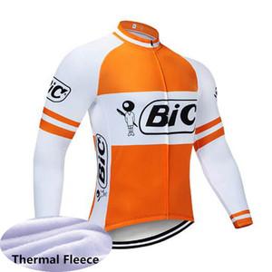 Bic Team Cycling à manches longues Jerseys Vélo Vêtements Hommes Hiver Thermique Cyclisme Bib Pants Pantalons Porter des vêtements MTB X71633