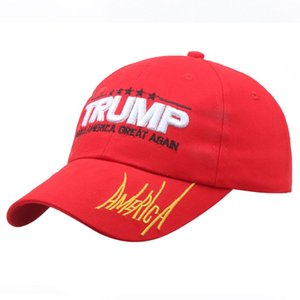 20 Free shipped Hot seller Embroidery America Great Again Hat Donald Trump Hat MAGA Trump Support Baseball Cap Sport Baseball Cap 20022068Y