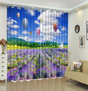 Rideau Personnalisé Fleurs Partout, Magnifiquement Rempli De Ballons À Air Chaud 3D Paysage Rideaux Mode Rideaux Simples Et Pratiques