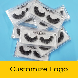 Custom Logo Lashes 3D Mink Eyelashes Individual False Eyelashes Eye lash Bulk Private Label Eyelash Extensions Packaging Box Cases