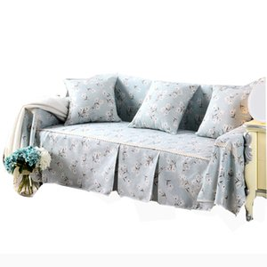 Pastoral Slipcover Sectional Sofa Cover for Living Room Sofa Seat Couch Cover Capa Para Towel Single Two Three Four-Seater