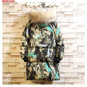 Dropshipping 2019 acolchoado Inverno Cotton Coats Mens Camouflage aquecimento Jacket Casual Masculino Grosso Outwear Alongar Parkas