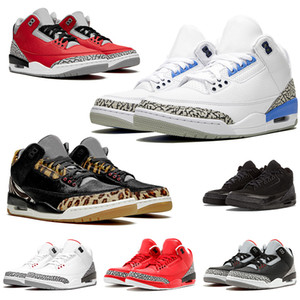 NIKE air jordan retro 3 Zapatos UNC 2020 New Arrivals New Jumpman Mens Basketball Shoes Knicks SE Unite Fire Red Animal Pack NRG Reflective White Cement Sneakers Traienrs