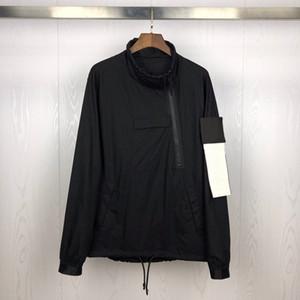 Nueva llegada para hombre de las chaquetas rompevientos Marca diseñador de las mujeres para hombre de las sudaderas con capucha abrigos de lujo informal Lateral de media cremallera ropa exterior de la blusa ST B103457L