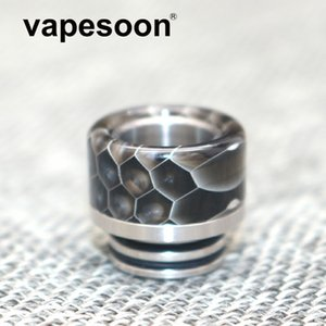Vapesoon Beautiful Mouthpiece 810 Drip Tip with Wild Cobra Resin Snake Skin for e-cigarette 810 Thread RTA / RDTA Atomizer 4 Colors