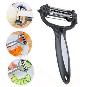 Multifuncional 360 Vegetal grado de rotación pelador rallador de Col de la patata Abridor de patata Máquina de cortar la fruta del cortador cuchillo de cocina Gadget zanahoria