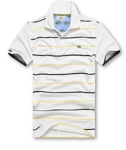 Italia camisetas de los hombres de lujo nueva primavera Diseñador Polos Calle bordado franja de cocodrilo de impresión Ropa para hombre de la marca Polo