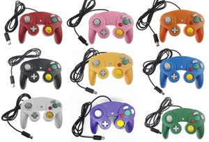 Joystick Gamepad NGC Wired Gaming Game Controller para NGC Console Gamecube Wii U Cabo de Extensão Turbo Dualshock