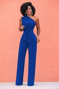 New Women Off Shoulder Casual Plus Size Jumpsuits Wide Leg Pants Summer Elegant Rompers Womens Jumpsuit Party Overalls Female