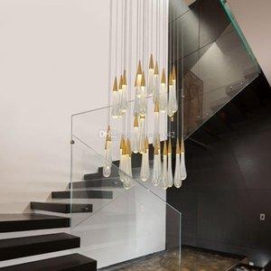 Gota de Água LEVOU luz pingente minimalista Loft escandinavo de Cristal de Metal Pendurado Lâmpada Nordic art e criativo restaurante luz