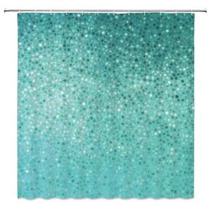 Blaue Mosaik Hintergrund Duschvorhänge Mode Badezimmer Dekor Wasserdichte Polyester Stoff Home Bad Duschvorhang Set 69x70 Zoll Billig