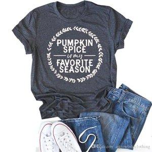 Halloween PUMPEKIN SPICE Damen-T-Shirts Sommer Kurzarmshirt mit runden Ausschnitt Designer Frauen Tops Art und Weise Breath Weiblich Tees