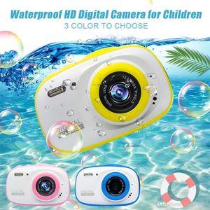 Sualtı Çocuk Kamera 12MP HD su geçirmez Dijital Kamera / 4X Dijital Yakınlaştırma / 8GB Hafıza Kartı Mini Eylem Kamera Kid Kamera