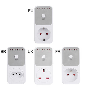 EU FR BR UK Electronic Timer Countdown Timing Socket 10Hr 6 Groups Timer Switch Countdown Switch Controller