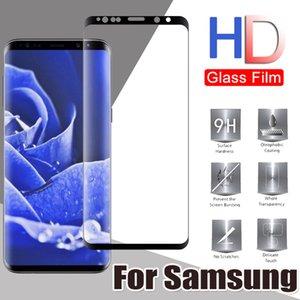 3D изогнутый закаленное стекло Полное покрытие Screen Protector Guard Флим для Samsung Galaxy S20 Ультра S10 E 5G Lite S9 S8 S7 Примечание 10 Plus 9 8