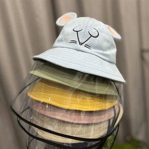 어린 아기 보호 모자 자외선 차단 UV 그늘 어부의 모자 안티 - 안개 침 절연 마스크 아동 보호는 먼지 모자 키즈 캡