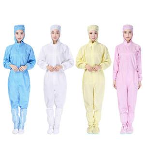 COMBI de protection des vêtements de protection à usage unique unisexe coloré vêtements de protection à capuchon atelier sans poussière des vêtements propres