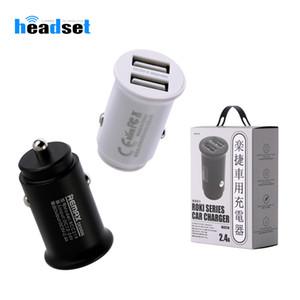 스마트 폰을위한 소매 패키지 REMAX 자동차 충전기 2.4A의 빠른 충전기 1.2A 듀얼 USB 어댑터 전화 충전기