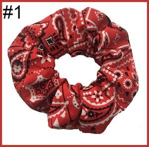 free shipping 12pcs inspired scrunchies christmas Scrunchie Check Large Plaid Hair Scrunchies Hair Tie Elastic Scrunchy