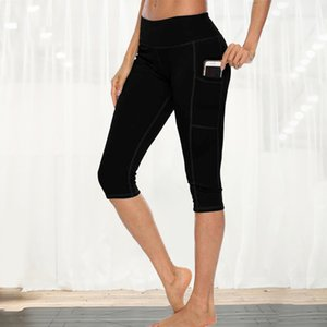 2020 high waist sport leggings yoga pants with pockets Sport Pants Female Running Training Fitness Gym Leggings