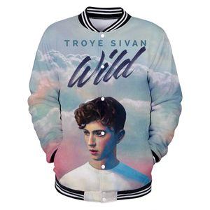Australia cantante sudaderas Troye Sivan 3d Impresión Digital Tiempo libre Fácil ropa de béisbol con capucha