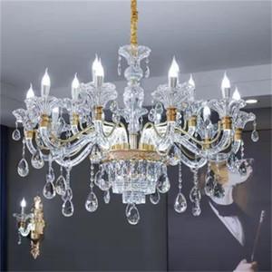 New style living room crystal chandelier European style zinc alloy chandelier light luxury simple restaurant pendant lights simple European
