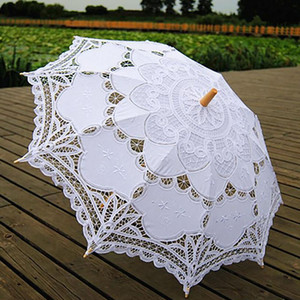 Handmade Umbrellas for Bridesmaid Wedding Decoration Lace Umbrella Christmas Decoration 2019 Newest Arrivel