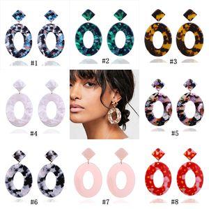 Statico acrilico ovale alla moda ciondola gli orecchini per le donne Acrilico acrilico geometrico design goccia orecchino femminile 2019 gioielli