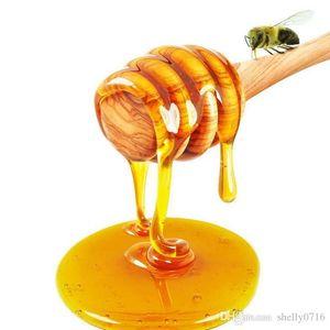 8CM Long Mini Natural Wooden Honey Stick Honey Dippers Party Supply Spoon Stick Honey Jar Stick