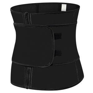 Plus Size Abdominal Belt High Compression Zipper Latex Waist Cincher Corset Underbust Body Sweat Waist Trainer