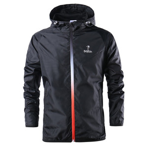 İlkbahar / Sonbahar WINDBREAKER Running Ceket Erkek / Kadın Spor Ceket Spor Hoodie Açık Windproof Kış Coat Bisiklet Spor Erkek