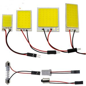 Araba Led Araç Paneli Lambası Otomobil İç Okuma Lambası Beyaz T10 W5W Cob 24SMD 36SMD Ampul Işık Kubbe fistosu