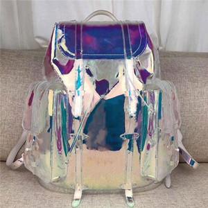 Yeni! Büyük renk moda omuz çantası, büyük boy tasarım, süper kapasite, gökkuşağı tonu, çok parlak, seyahat için gerekli