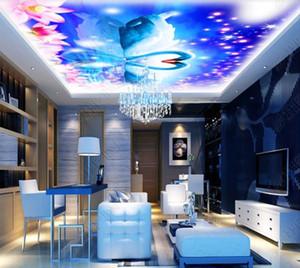 Techo 3D personalizada gran mural Sala Swan Lake Fresco del techo Wall Papers decoración mural