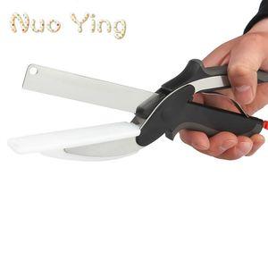 New inteligente Cortador 2-1 Food Chopper Scissor Substituir facas de cozinha Tábua de Multi-função ferramenta da cozinha