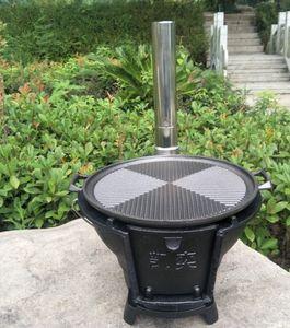 Castiron уголь барбекю дровяной печью нагрева печи пикника деревянная печь регулируемые огневая 098