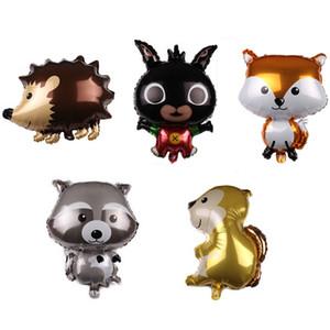 New Arrival Animal Raccoon Fox Hedgehog Aluminum Balloon Cartoon Animal Foil Balloons Wholesale Birthday Party Decoration