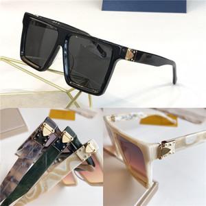 New homens de moda de luxo designer de óculos de sol 1196 sem moldura quadrada simples pop estilo punk marca de qualidade superior ao ar livre UV400